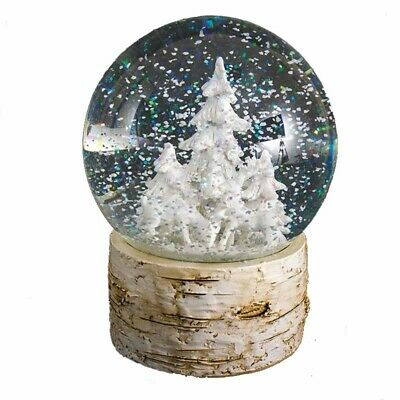 Heaven Sends Deer & Tree Water Globe - Christmas Globe Decorations