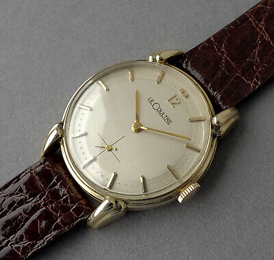 JAEGER LECOULTRE 14K Solid Gold Vintage Watch 1952