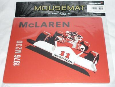 Team McLaren Formula One Official M23D Mousemat Hunziker 1976 HUNT NEW & SEALED
