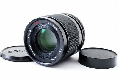Contax Carl Zeiss Sonnar T* 100mm f/3.5 AEJ MF Lens  [Exc] From Japan #490277