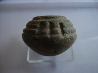 1 Ancient Neolithic Clay Bead, Stone Age, VERY RARE !!