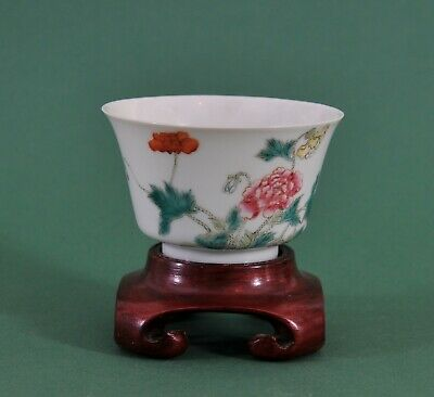Great antique Chinese hand painted Guangxu cup, 19th century
