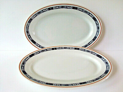Bailey & Walker China Oval Restaurant Ware Plates Vintage Set of 2
