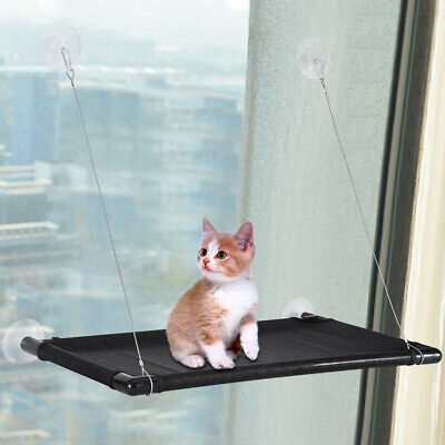 US Cat Kitty Window Mounted Basking Bed Pet Shelf Kitten Perch Seat High Hammock
