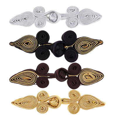 """Unotrim 6 or 12 Pairs White Black Chinese Frog Closure Button Knot Fastener 2.5/"""""""