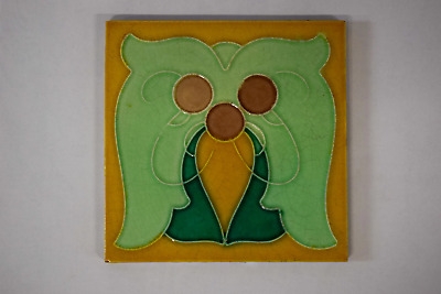 Antique Art Nouveau Tile By H.R. Johnson c1905/7 (#1)