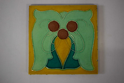 Antique Art Nouveau Tile By H.R. Johnson c1905/7 (#2)