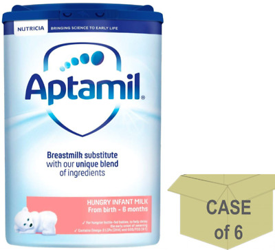 6 x Aptamil Hungry Milk from Birth - 6 months, 800g**FREE UK Delivery