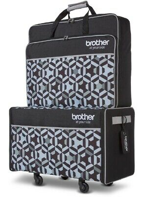 Brother XE1 XJ1 Stellaire Sewing Embroidery Machine Trolley Bag Luggage Set