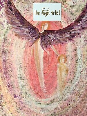 LARGE CANVAS ORIGINAL  - I'll Protect You By Kerry Broad - The Angel Artist