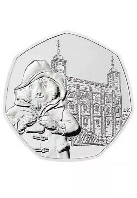Paddington Bear 50p Pence Tower Of London Coin 2019 Uncirulated From Sealed Bag