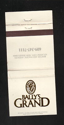 Bally's Grand Hotel & Casino--Atlantic City, New Jersey--Matchbook Cover