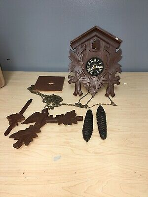 Vintage German Cuckoo Clock  Parts or Restoration Bezels
