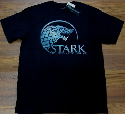 Game of Thrones Stark Winter is Coming Dire Wolf T Shirt Black NEW Men S M L XL