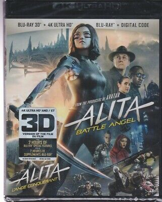 ALITA BATTLE ANGEL 4K ULTRA HD & 3D BLURAY & BLURAY & DIGITAL SET with Ed Skrien