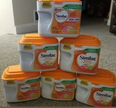 6x Similac Sensitive Non-GMO Baby Infant Formula Iron Fussiness Gas 1.41 lbs