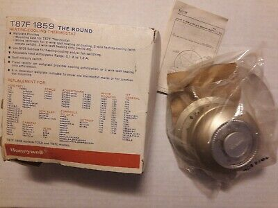Nos Honeywell T87F 1859 Round Thermostat Super Tradeline Heating Cooling