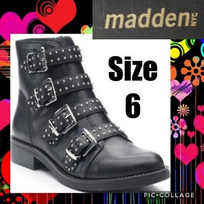 NEW Madden NYC Sllick Casual Ankle Boots Black #Slli01j1 119W py
