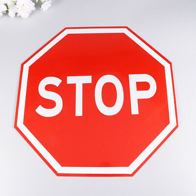1pc Stop Sign Street Safety Traffic Sign Warning Alert Attention Metal Road Sign