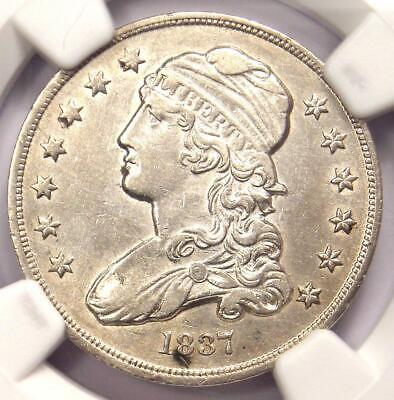 1837 Capped Bust Quarter 25C - NGC AU Details - Rare Early Date Coin in AU!