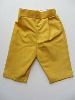baby vintage 70's sunny yellow trousers large doll age 1