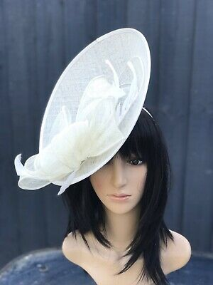 Suzanne Bettley Ivory Wedding Hat Disc Fascinator Formal