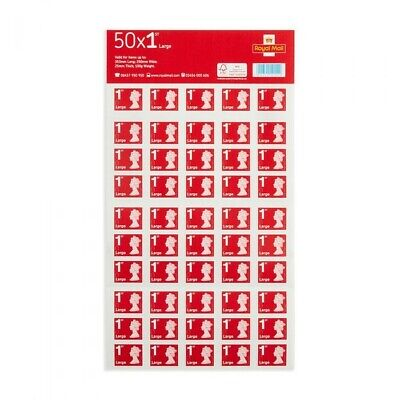 Royal Mail First Class [1st Class] 50 Stamps Large Letter Size
