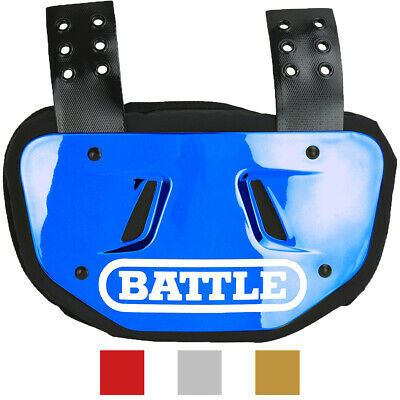 Battle Sports Adult Chrome Protective Football Back Plate