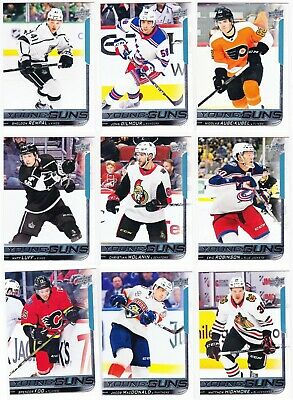 2018-19 Upper Deck Series 2 YOUNG GUNS Lot of 17 RC Cards SEE LIST Wolanin Luff
