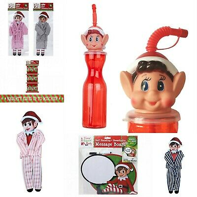 Christmas Naughty Elf Accessories Prop Elves Behavin Badly Dressing Gown Pyjamas