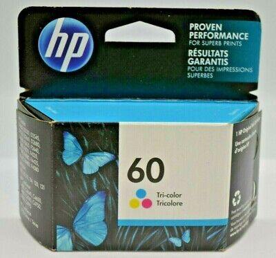 HP 60 Tri-Color Ink Cartridge (CC643WN) EXP: 2021+. NEW SEALED.