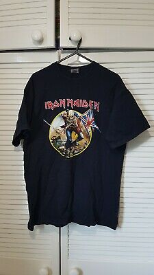 Iron Maiden Medium 2008 Somewhere Back in Time Tour T Shirt Crew Neck Black M