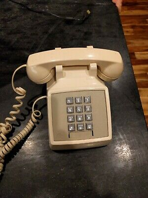 Telephone - Push Button- Bell System - Western Electric - 2500DMG - Beige