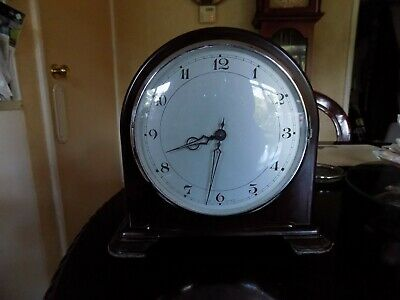 Rare Smiths Bakelite Mantel Clock With Platform Escapement
