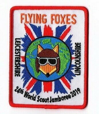 2019 World Scout Jamboree Leicestershire Lincolnshire Flying Foxe 24th WSJ Badge