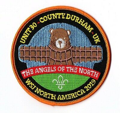 2019 World Scout Jamboree Unit 30 County Durham UK 24th WSJ Orange Border Badge