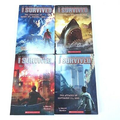 "Lot of 4 ""I Survived"" books by Lauren Tarshis"