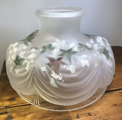 "10"" Coleman Style #322 Reproduction Irish Ivy Glass Lamp Shade Aladdin Kerosene"