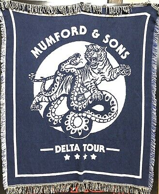 Mumford & Sons Exclusive Blanket 50 X 60 Delta Tour New Band Accessories