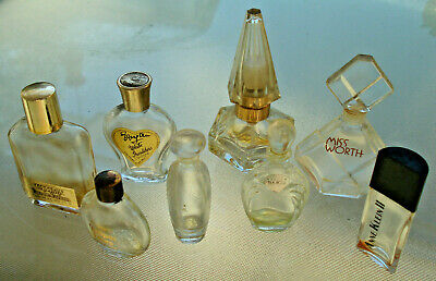 8 X miniature vintage Perfume/scent glass bottles (EMPTY)....sold as 1 Lot