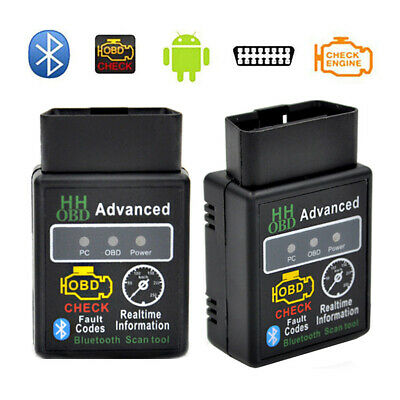 V2.1 ELM327 HH OBD 2 OBDII Car Auto Bluetooth Diagnostic Tool Interface Scanner