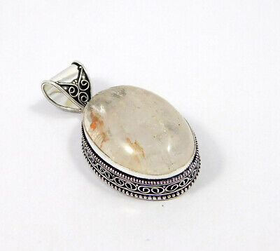 AAA Cherry Quartz .925 Silver Plated Carving Pendant Jewelry JC7435