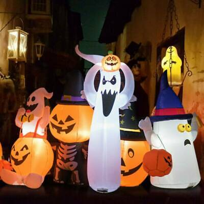 6' Halloween Inflatable Air Blown Ghost with Pumpkin For Festival Party Night