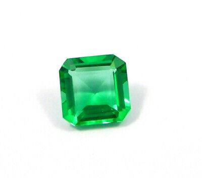 Treated Faceted Emerald Gemstone11.4CT 12x12mm MJ1888