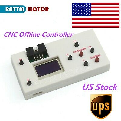 【US】3 Axis GRBL DIY CNC Rounter Offline Controller Module LCD Screen with cable