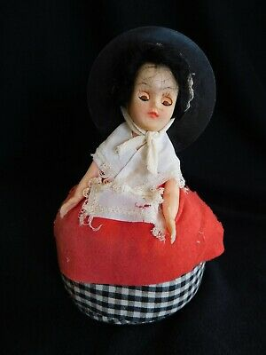 Vintage Retro National Costume Welsh Doll Pin Cushion Sewing Craft