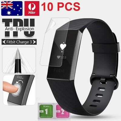 10X Fitbit Charge 2 Compact TPU Hardness Slim Clear Screen Protector Film