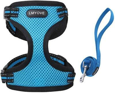 Meeyou Adjustable Soft Mesh Cat Harness with Leash Small, Blue-new