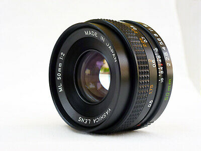Yashica Lens ML 50 mm 50mm 1:2,  Yashica Contax analog, excellent With case.
