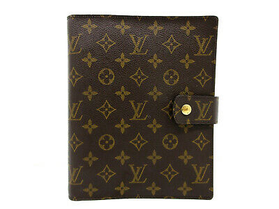Auth Excellent Louis Vuitton Monogram Agenda GM R20106 Day Planner Cover 73889